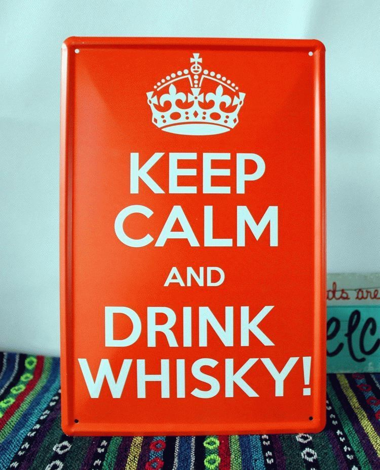 KEEP-CALM-and-DRINK-WHISKY-Metal-Wall-ART-TIN-Sign-Vintage-Poster-Fit-For-BAR-PUB